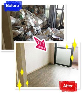 北九州市での不用品回収事例 小倉南区の1Rタイプのマンション